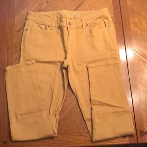 The Limited Denim 678 Skinny Jean Size 10 Mustard